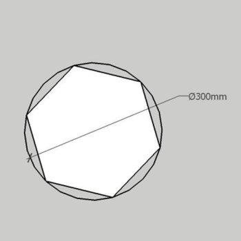 PolySound BASO Absorber Hexagon M Ø30cm - 40 Farben