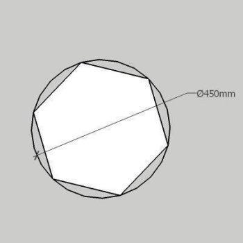PolySound Akustik Schaumstoffe aus Basotect¸ WollFilz Stoff - kaschiert in Hexagon-Form Größe L - Durchmesser 45cm - Farbe: 0014 verkehrsblau - Stärke: S - 3cm