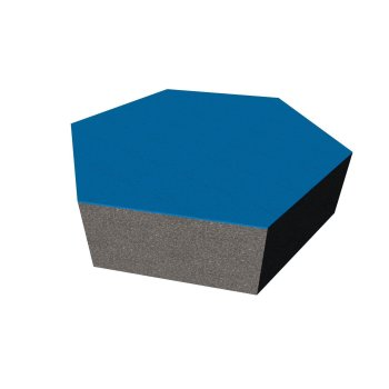 PolySound ECO Hexagon Ø200mm - Farbe: mittelblau Stärke: 5cm