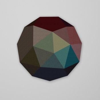 Low Poly Circle Ø100cm x 5cm - Schallabsorber mit...