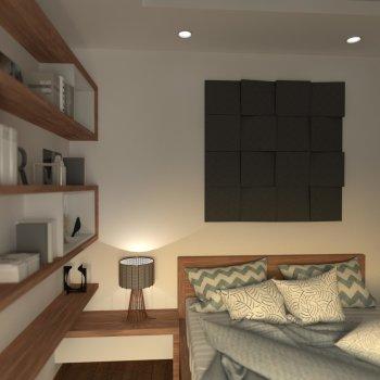 Akustikabsorber Wedge - Wall Set S - 16 Elemente 32 x 32 x 7cm Dicke - AKUSTIKBILD zur Schalldämmung