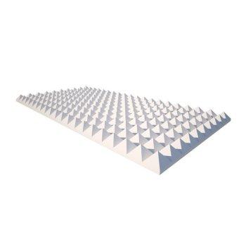 Pyramidenschaum aus Basotect® weiß - 100cm x 50cm