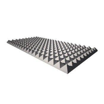 Pyramidenschaum aus Basotect® grau - 100cm x 50cm x 4cm