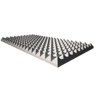 Pyramidenschaum aus Basotect® grau - 100cm x 50cm x 5cm