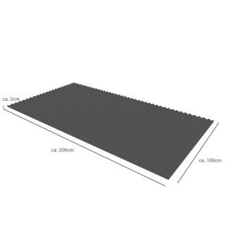 Akustik Noppenschaumstoff-Platten flammhemmend anthrazit - 2m² - 20mm