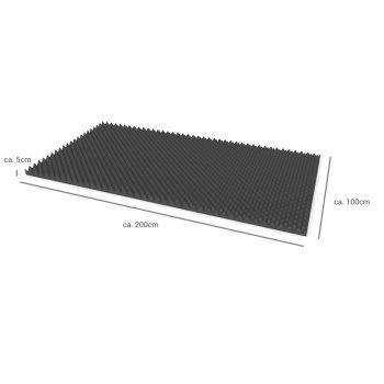 Akustik Noppenschaumstoff-Platten flammhemmend anthrazit - 2m² - 50mm