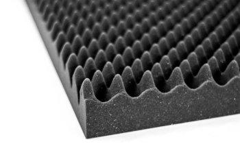 Akustik Noppenschaumstoff-Tafeln flammhemmend anthrazit - 2m²